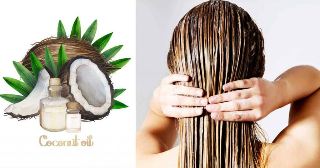 Coconut oil as hair conditioner